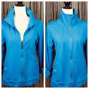 Relaxed by Charter Club Jacket Turquoise size L